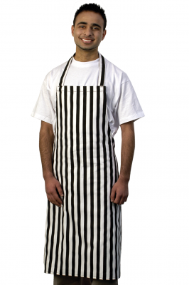 Black White Stripe Bib Apron