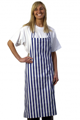 Blue White Stripe Bib Apron