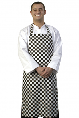 Black White Check Bib Apron