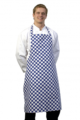 Blue White Check Bib Apron