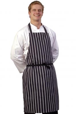 Butchers Stripe Blue Bib Apron