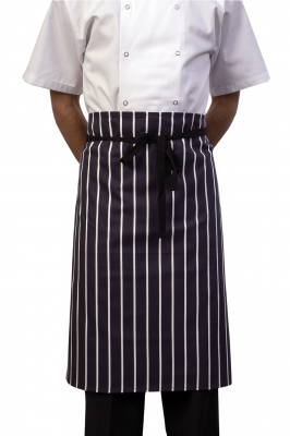 Butchers Stripe Blue Waist Apron