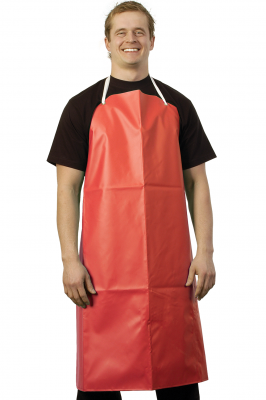 Red Wash Up Apron
