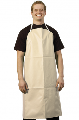 Rubber Apron With Cotton Back