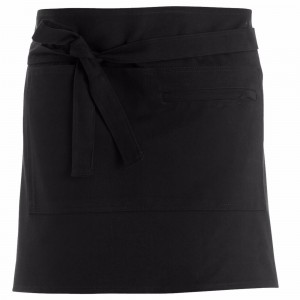 280gsm 100% Cotton Short Apron Black