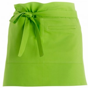 280gsm 100% Cotton Short Apron Lime