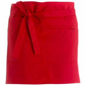 280gsm 100% Cotton Short Apron Red