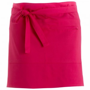 280gsm 100% Cotton Short Apron Hot Pink
