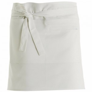 280gsm 100% Cotton Short Apron White