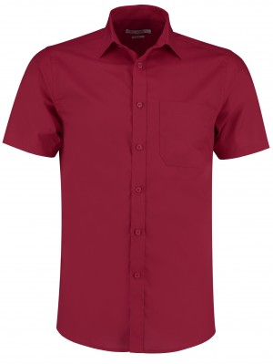 Mens Short Sleeve Shirt Burgundy