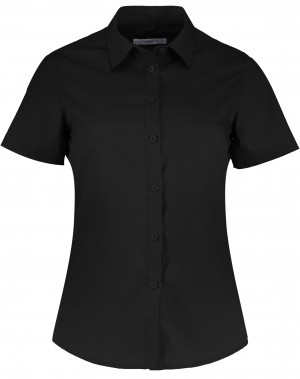 Ladies Short Sleeve Shirt Black