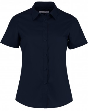 Ladies Short Sleeve Shirt Navy