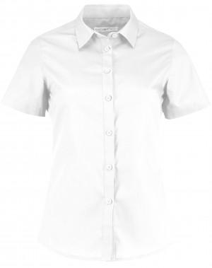 Ladies Short Sleeve Shirt White