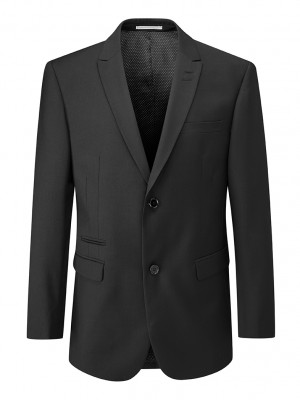 Madrid Mens Tailored Fit Jacket Black