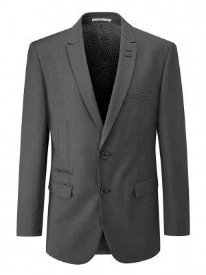 Madrid Mens Tailored Fit Jacket Charcoal