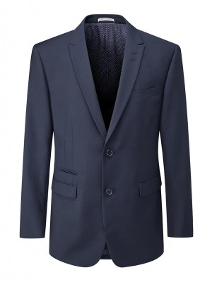 Madrid Mens Tailored Fit Jacket Navy