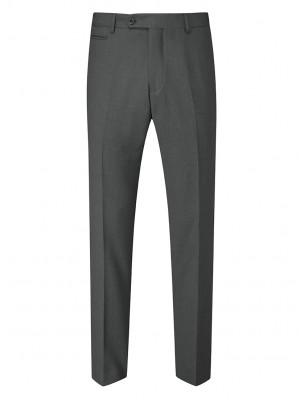 Madrid Mens Slim Fit Trouser Charcoal