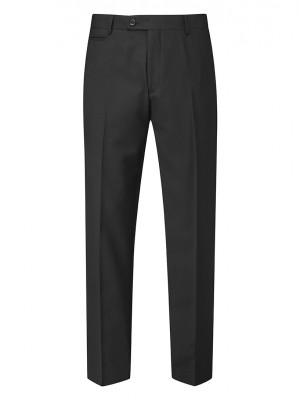 Madrid Mens Tailored Fit Trouser Black