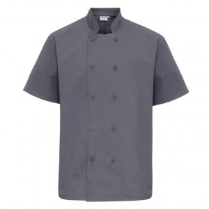 Mens Short Sleeve Chef's Jacket
