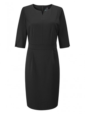 Lewis Dress Round Neck Dress Black