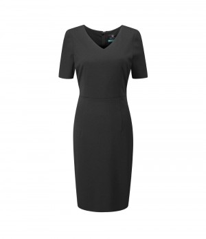 Pendleton Dress V Neck Dress Charcoal