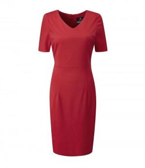 Pendleton Dress V Neck Dress Red