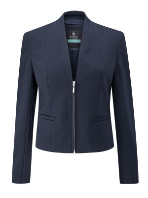 Ennis Jacket Womens Zip Front Jacket Navy