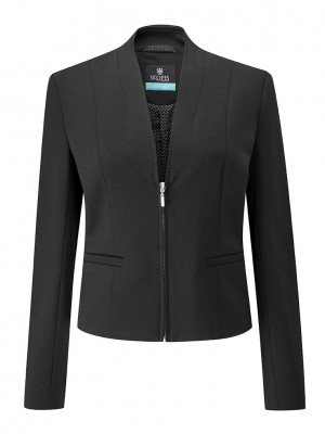 Ennis Jacket Women's Zip Front Jacket Black