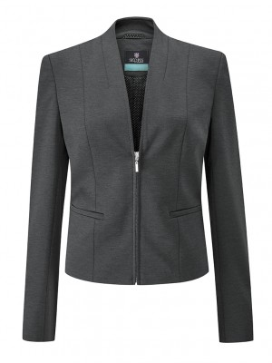Ennis Jacket Women's Zip Front Jacket Charcoal