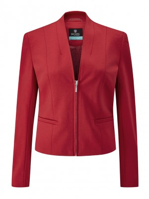 Ennis Jacket Womens Zip Front Jacket Red