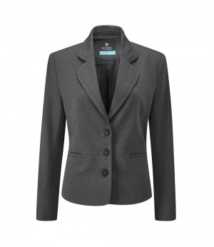 Adams Jacket Women's 3 Button Jacket Charcoal
