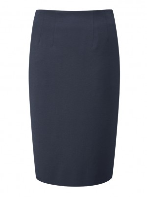 Radcliffe Skirt Straight Skirt Navy