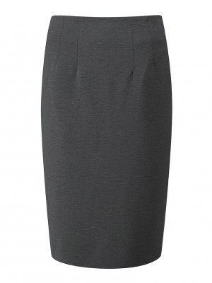 Radcliffe Skirt Straight Skirt Charcoal