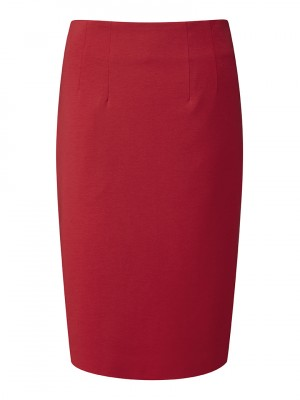 Radcliffe Skirt Straight Skirt Red