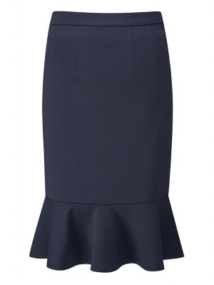Adlington Skirt Fluted Pencil Skirt Navy