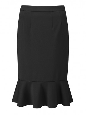 Adlington Skirt Fluted Pencil Skirt Black