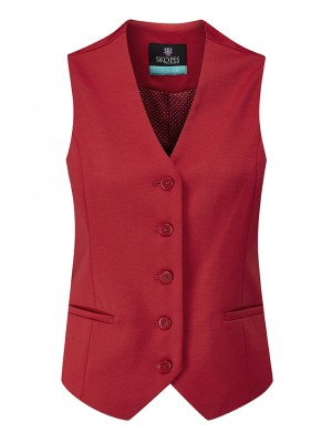 Sanderson Womens Waistcoat Red