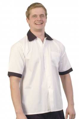 Chef/Serving Shirt Black Colar