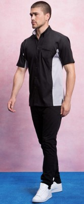 Chef/Serving Shirt Black & Grey