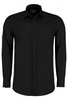 Mens Long Sleeve Shirt Black