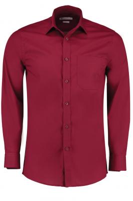 Mens Long Sleeve Shirt Burgundy
