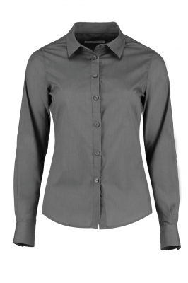 Ladies Long Sleeve Shirt Grey
