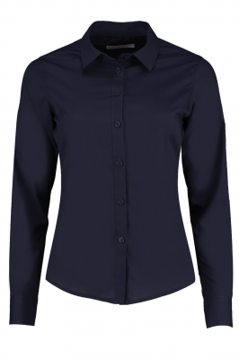 Ladies Long Sleeve Shirt Navy