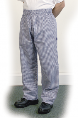 Blue Check Baggy Trouser