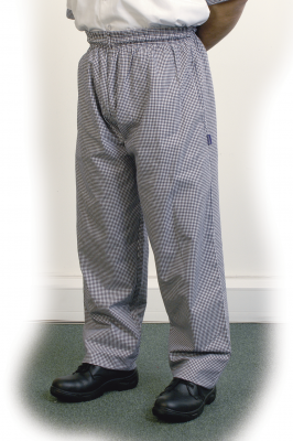 Black Check Baggy Trouser