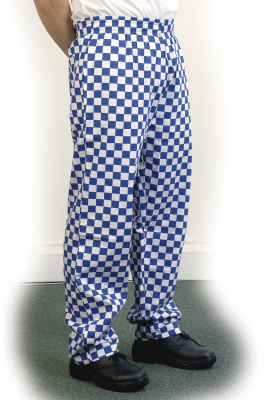 Large Blue Check Baggy Trouser