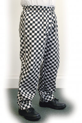 Large Black Check Baggy Trouser