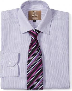 Mens Club Tie Lilac / Fuchsia