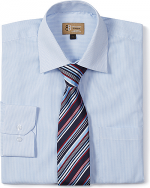Mens Club Tie Pale / Blue Red
