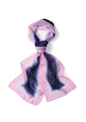 Womens Palette Chiffon Scarf Pink / Blue